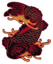 bf62 Koi Karpfen Tattoo Asien Fische Aufnäher Bügelbild Applikation 7,5 x 8,7 cm