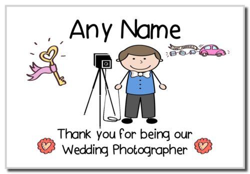 Merci d'être notre photographe de mariage hommes personnalisé aimant