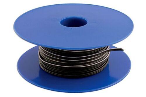 Conecte altavoces estéreo negros doble núcleo cabe 12//0.20 X 100 metros 30055
