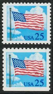 #2278 & 2285A 25c Bandera y Nubes ,Nuevo Cualquier 5=