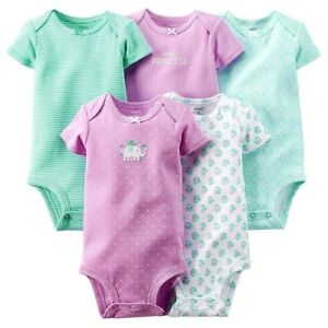 f026960f253 Details about CARTER'S GIRL 5PK DADDY'S PRINCESS BODYSUITS SET 9M 12M  COTTON CLOTHES
