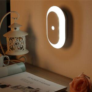 batteriebetrieben led nachtlicht mit bewegungsmelder nachtlampe mit magnet wei ebay. Black Bedroom Furniture Sets. Home Design Ideas