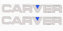 2-CARVER-BOAT-CHROME-Decals-Decal-Sticker-PAIR-L-K