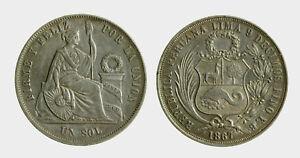 pci5370) Perù 1 SOL 1867 YB - Italia - pci5370) Perù 1 SOL 1867 YB - Italia