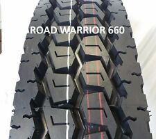 (4- TIRES) 11R22.5 ROAD WARRIOR NEW DRIVE TRUCK TIRES H/16PR PREMIUM QUALITY