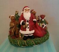 Old Virginia Candle Company Candle Capper Santa & Teddy Bears