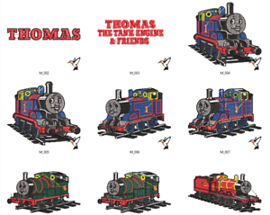 Thomas the Tank Engine and Friends Embroidery Designs PES//HUS//JEF//DST DOWNLOAD