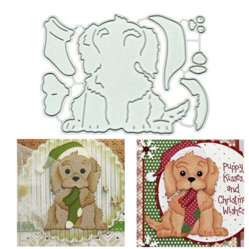 Christmas Dog Metal Cutting Dies Stencil Scrapbook Card Embossing Craft Gift U9