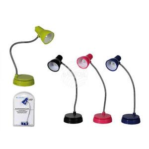 Lampe De Lecture Flexible Avec Led Piles Inclus Ebay
