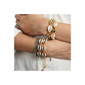 Shell-Bracelet-Cowrie-Shell-Gold-Friendship-Adjustable-Anklet-Beach-Bloggers-Fav