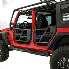 07-17 Jeep Wrangler JK Body Armor Complete Set of 4 Tubular Door Without Mirror