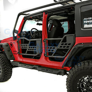 Body-Armor-Complete-Set-of-4-Tubular-Door-Without-Mirror-fit-07-17-Jeep-Wrangler