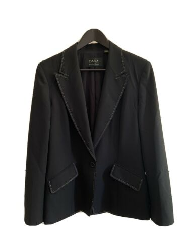 DANA BUCHMAN Black Wool Suit Jacket Blazer Size 10