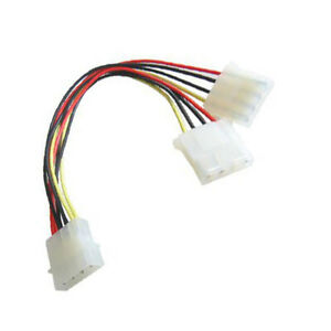 Molex-Power-Splitter-Cable-For-PC-5-25-034-5-25-Y-Adaptor-2-Outputs