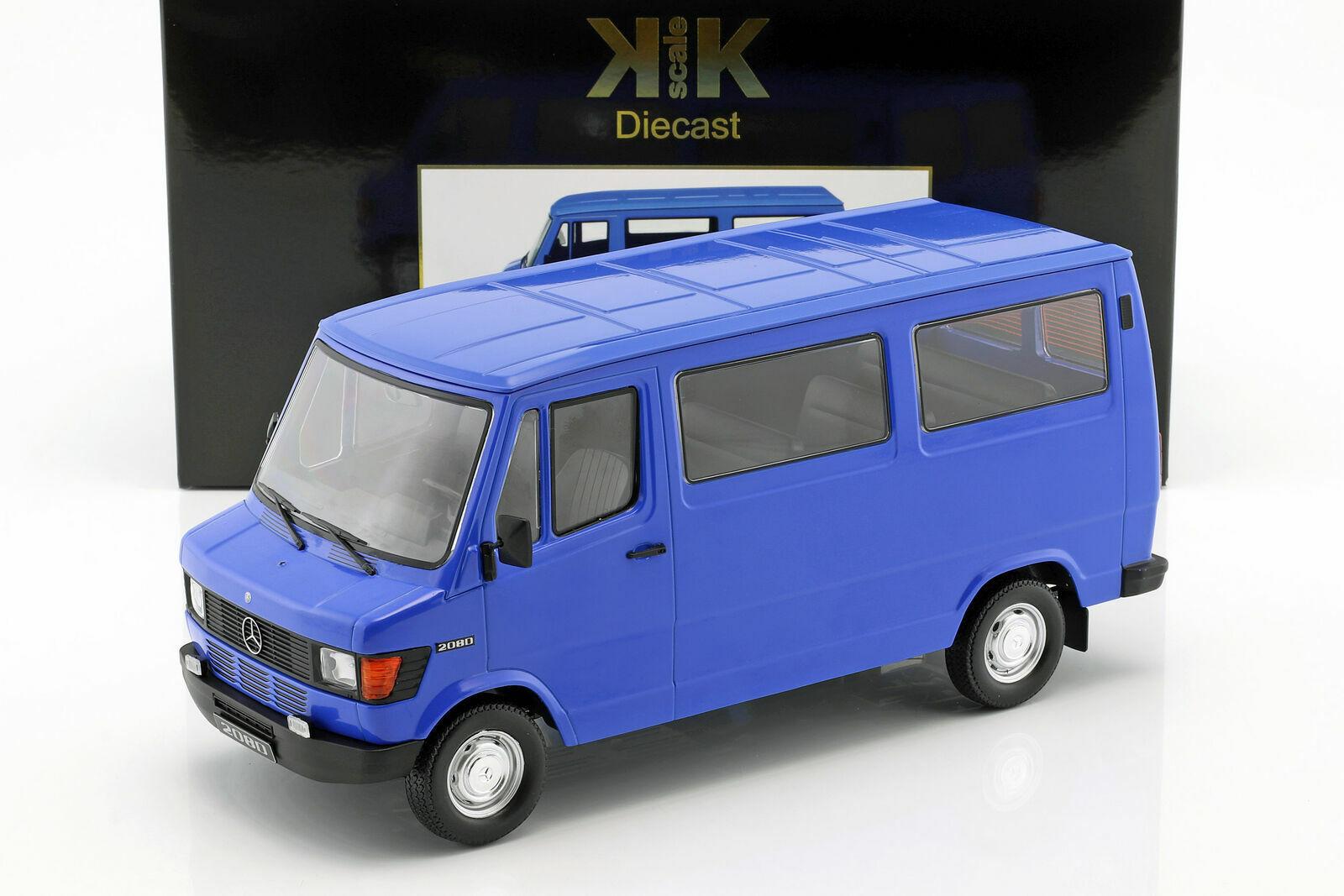 MERCEDES 208D VITRE 1988 bleu KKSCALE KKDC180293 1 43 BENZ MINIBUS RESINE 750 P