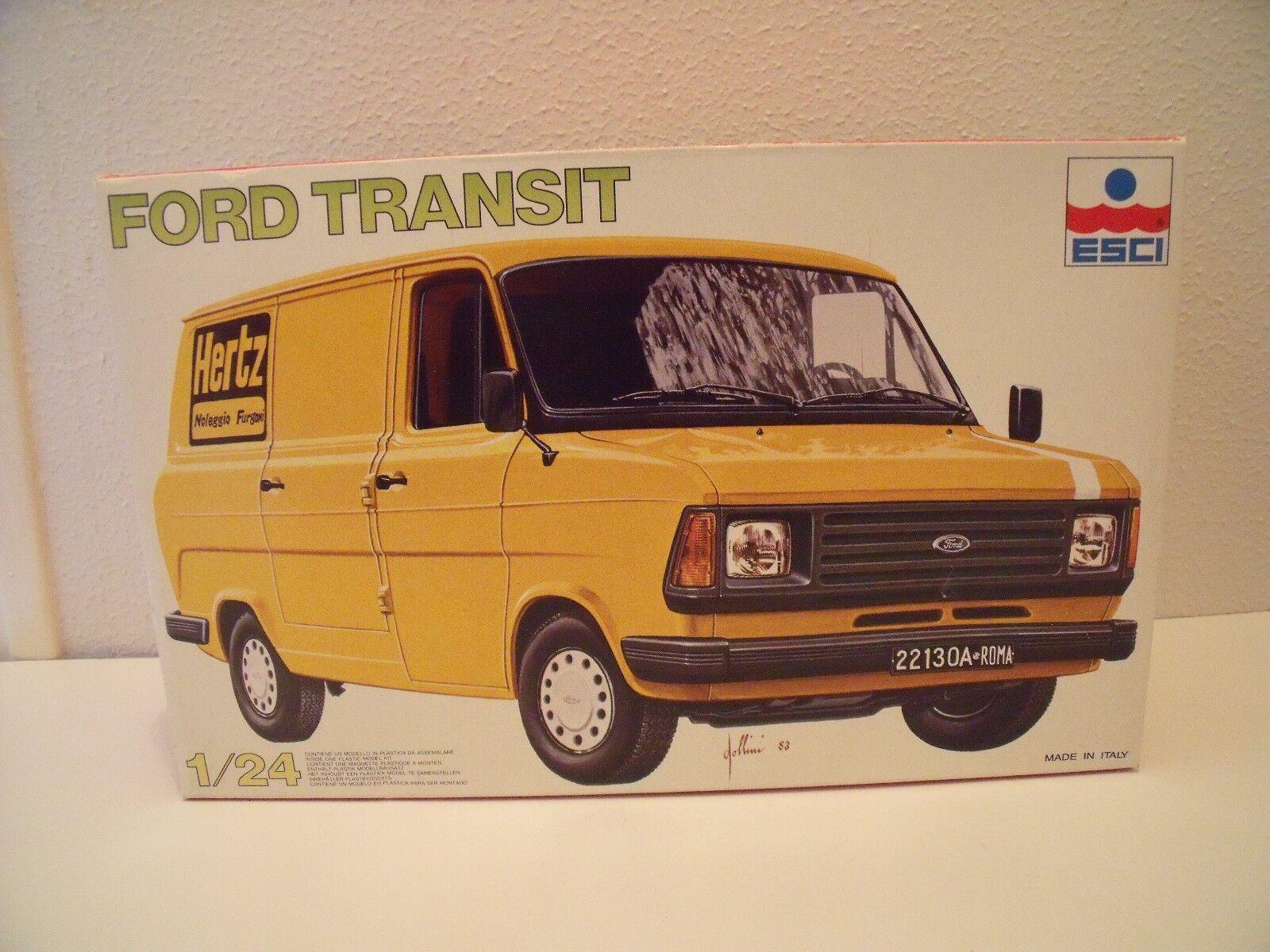 Muy   Muy Raro Maqueta   Modelo Kit Ford Transit Mk2 Hertz Esci 1 24 3047 Top