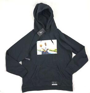 Details zu Nike Air Jordan 13 He Got Game Pullover Hoodie Black White AV6352 010 Men's XL