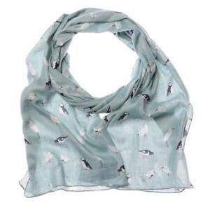 RSPB-Grey-Blue-Stone-Bird-Ladies-Gift-Puffin-Seagull-Stork-Modal-Scarf-Present