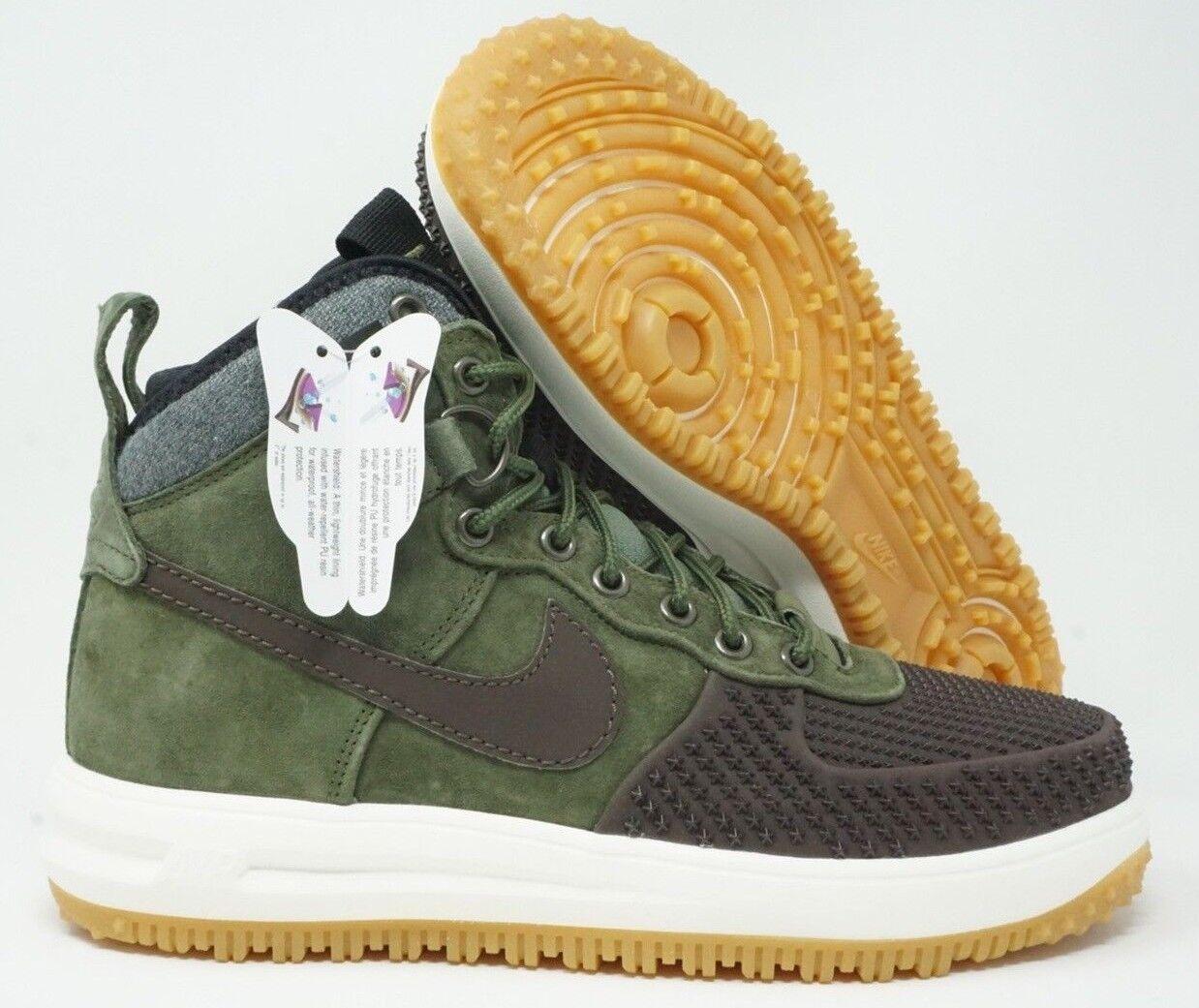 Nike Lunar Force 1 Mens Duckboot Brown Army Olive Black Size 7.5