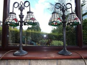 Tiffany LampsCast iron stand lamps with dual Tiffany shades Price is per lamp - Burnley, United Kingdom - Tiffany LampsCast iron stand lamps with dual Tiffany shades Price is per lamp - Burnley, United Kingdom
