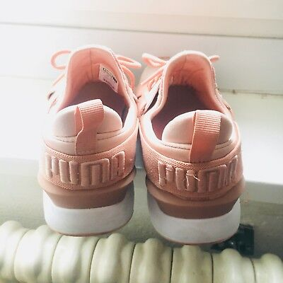 Puma Muse X Strap Satin EP Damen Sneaker EU 39 US 8.5 schuhe peach creeper   eBay