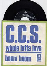 "C.C.S. WHOLE LOTTA LOVE LED ZEPPELIN COVER 1970 RECORD YUGOSLAVIA 7"" PS"
