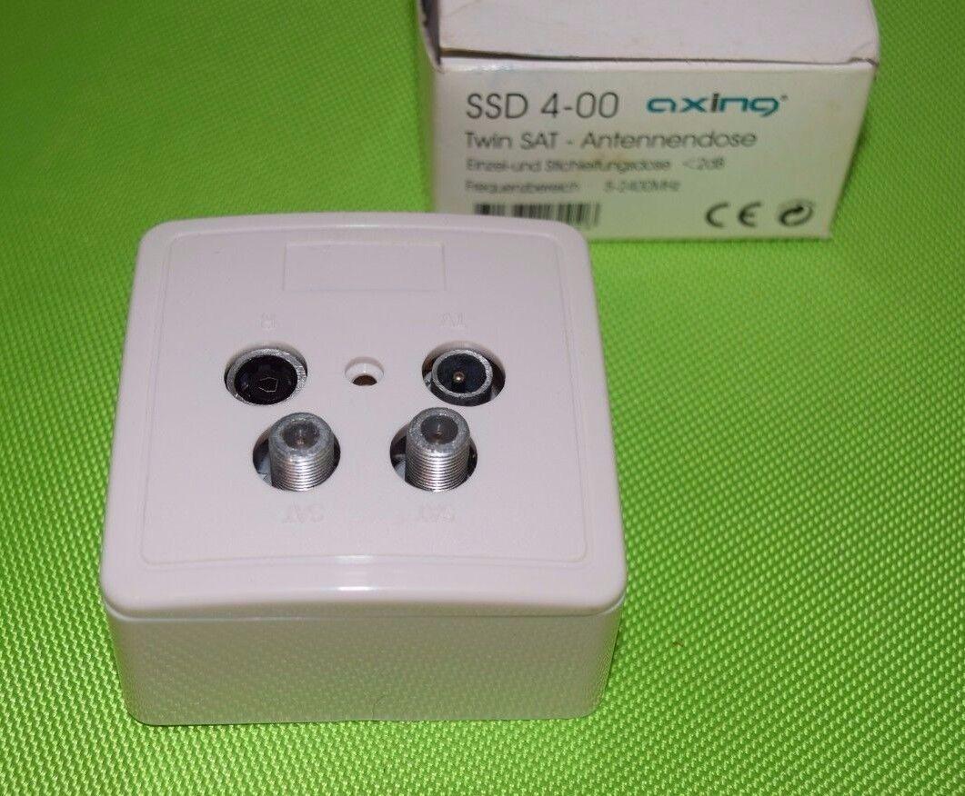 1 Stk Axing Stichleitungsdose Sat 4fach Twin SSD4-00 SSD00400