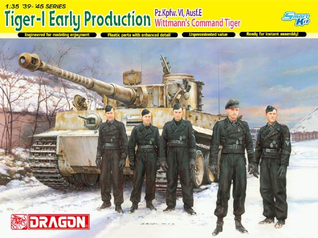 DRAGON GERMAN TIGER I EARLY PRODUCTION PZ.KPFW.VI AUSF.E Scala 1 35 Cod.6730