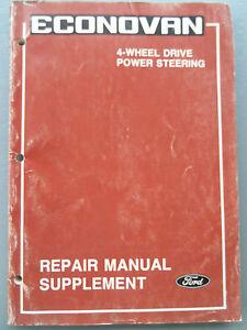 ford econovan 4 wheel drive factory manual 4wd power steering ebay rh ebay com au Ford Econovan free ford econovan repair manual