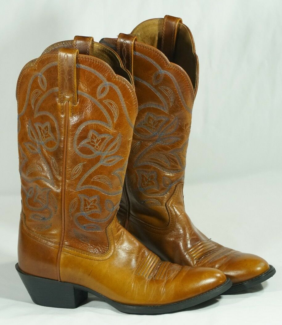 Ariat Heritage R Toe Cowboy Western Boots15740 Brown Cowgirl Womans Size US 6 B