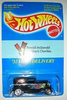 Black With Flames 1932 Ford Delivery Hot Wheels Ronald Mcdonald Charities