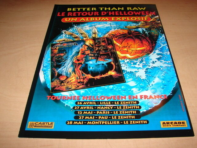 HELLOWEEN - BETTER THAN RAW!!!!!!!!! PUBLICITE / ADVERT