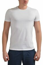 Dior White Short Sleeves Stretch Logo Decorated Men's Basic T-Shirt US M IT 50
