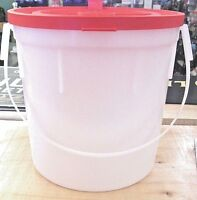 Ccp Minnow Bucket 4 Quart Capacity Red Lid 046131 Made In Usa Carrying Handle