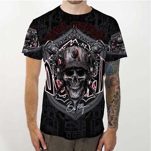 Brian-Deegan-38-Metal-Mulisha-Skull-Tee-Full-Print-Tshirt-New-Men-039-s-T-Shirt