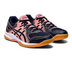 Asics Femme Gel-Rocket 9 Intérieur Cour Chaussures Bleu Rose Sports Squash Badminton