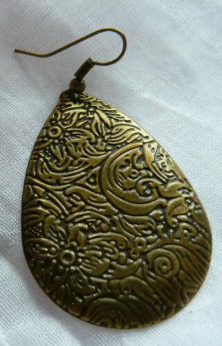 Gotas de flor lágrimas forma ohrhänger aretes bronce osn16
