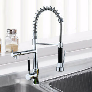 Details zu Küchenarmatur Spiralfederhahn Wasserhahn Küche 360°  Verstellbarer Verchromt