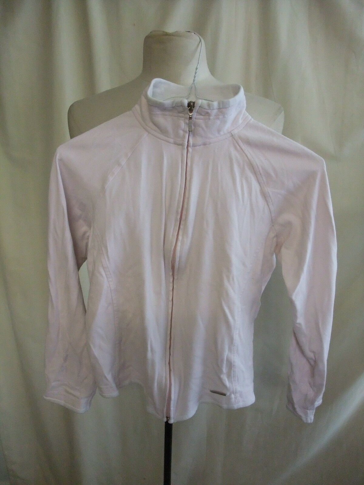 Ladies Sports Jacket NEXT UK 10, pale pink cotton, zip up, used not perfect 1873