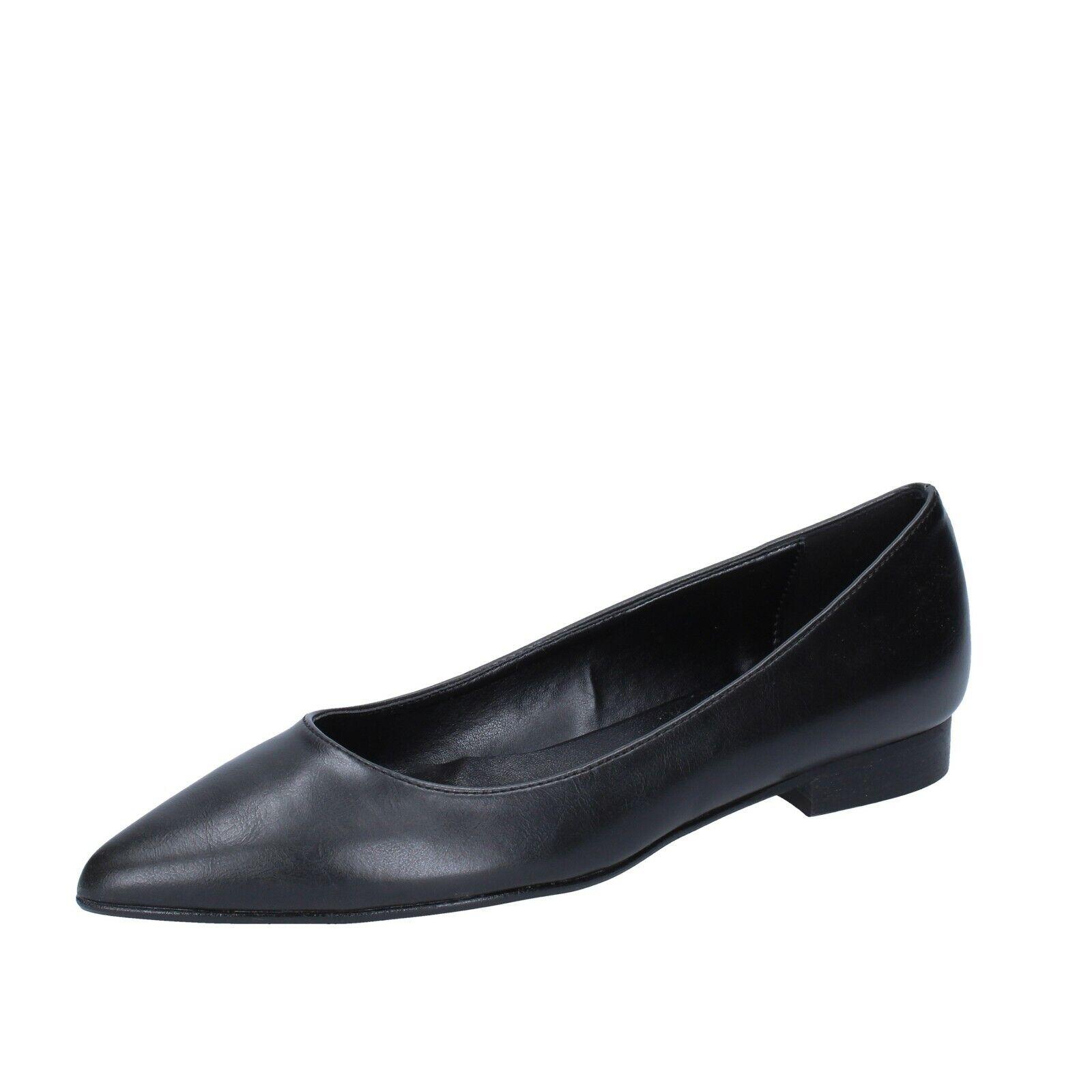 Chaussures Femmes Olga Rubini 36 UE Ballerines en cuir noir bs868-36
