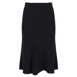 Alexander-McQueen-Elegant-Black-Tulip-Skirt-IT42-UK10