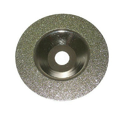 "1pcs 4"" Diameter Resin Bond Diamond Cup Grinding Wheel Grinder Silver Tone"