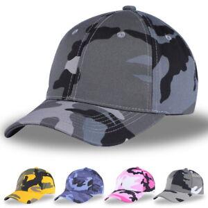 Ete-Hommes-Camouflage-Impression-Reglable-Peche-Casquette-de-baseball