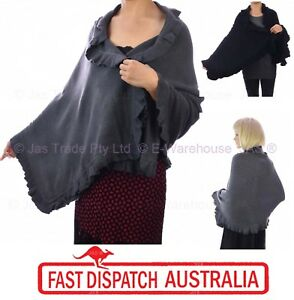 Ladies-Winter-Evening-Fashion-Knit-Stole-Cape-Shawl-Wrap-Long-Big-Scarf-Ruffled