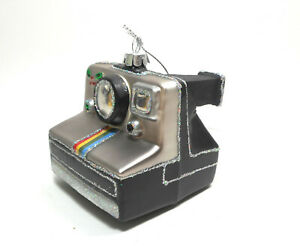 Polaroid Camera Glass Christmas Ornament | eBay