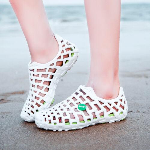 Damen Strandsandalen aushöhlen Wasser Schuhe Slides Sportschuhe Mode Gr.35-45