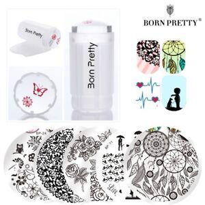 7Pcs-Set-Born-Pretty-Nail-Art-Template-Stamping-Plates-amp-Clear-Stamper-Kit-DIY