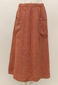 Petite line Long Spring Flax Skirt Flare A Sunrise Linen Coperta Pocket w1vqEqI