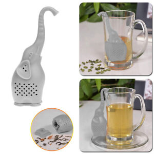 Novelty-Elephant-Tea-Infuser-Silicone-Leaf-Strainer-Herbal-Spice-Filter-Diffuser