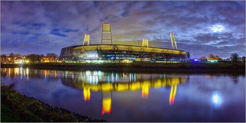 Acrylglasbild Bremer Stadion im Mondschein - Tanja Arnold Photography